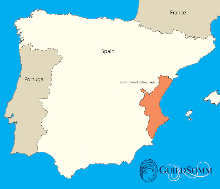 Map Of Spain Valencia Region.Forgotten Spain Valencia Kelli White Articles Guildsomm