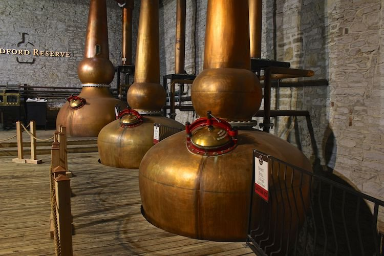 Copper pot stills at Woodford Reserve